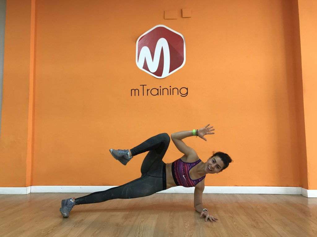 bloque lateral crunch tenis mtraining