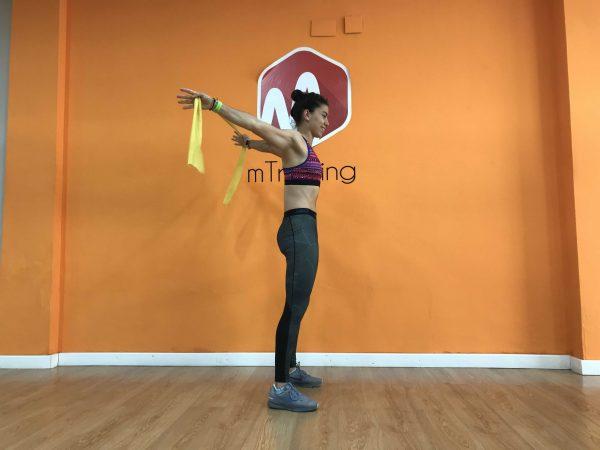 movilidad de hombro banda