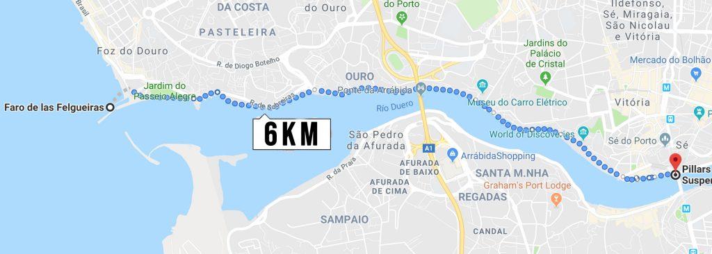 ruta 2 running oporto Douro