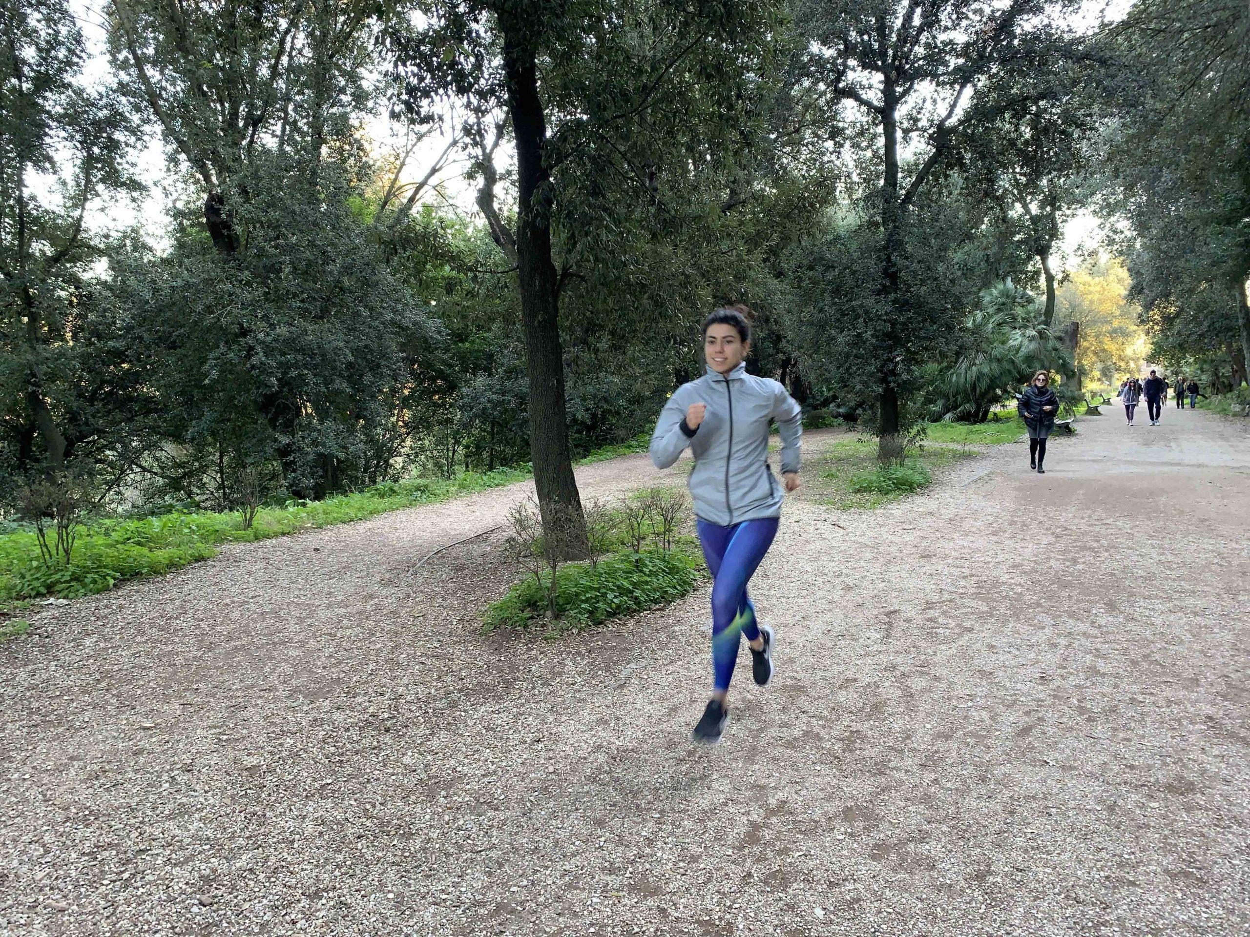 Villa Borghese running Rome